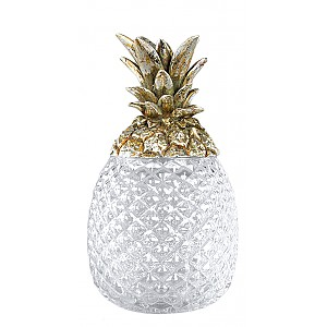 Pineapple in glass with Champagne lid - Small