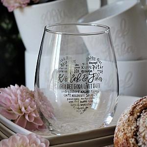 Majas Drinking Glass Kärlek & Fika