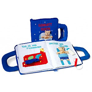 Good Night Book with Teddy Bear Blue