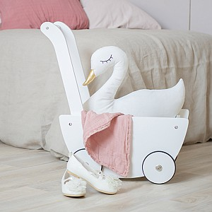 JaBaDaBaDo Doll Wagon - White