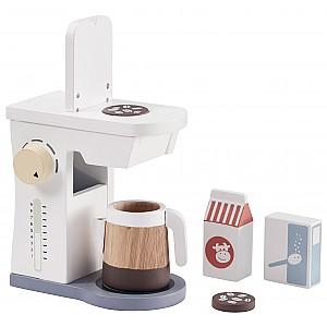 Kids Concept Coffee Maker Set - White / Blue