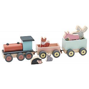 Kids Concept Animal Wood Train Edvin