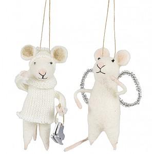 Mice set of 2 - Skates / Angel