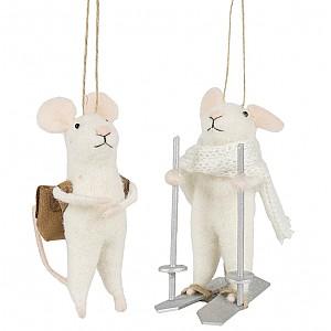 Mice set of 2 - Backpack / Skiing