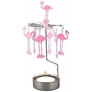 Rotary Candle Holder Flamingo