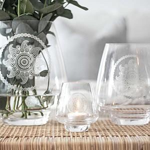 Majas Glass Vase Paisley Flower - Small