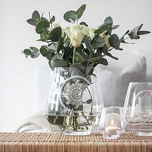 Majas Glass Vase Paisley Flower - Large