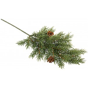 Spruce Twig with Cones Green - 46 cm
