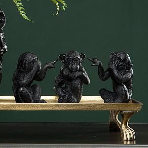 Monkey No See No Hear No Speak - Black / Brown