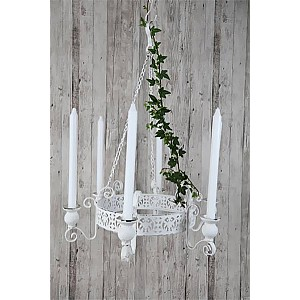 Candle Chandelier 45 cm - White