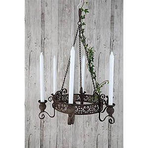 Candle Chandelier 45 cm - Rust Brown