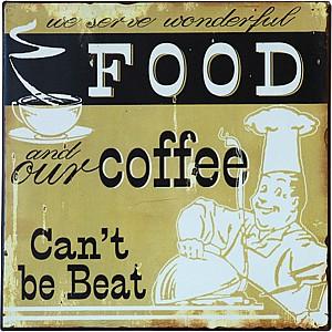Tin Sign Food/Coffee