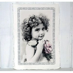 Picture Girl with flower
