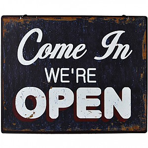 Tin Sign Open/Closed