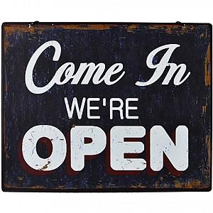 Plåtskylt Open/Closed