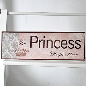 Tin Sign The Princess sleeps here