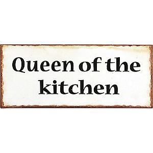Plåtskylt Queen
