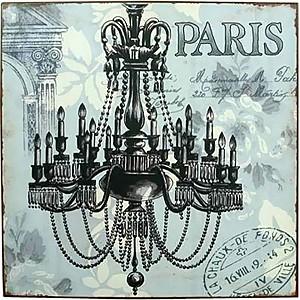 Plåtskylt Paris
