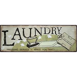 Tin Sign Laundry