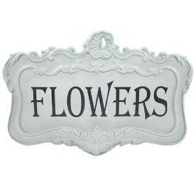 Plåtskylt Flowers