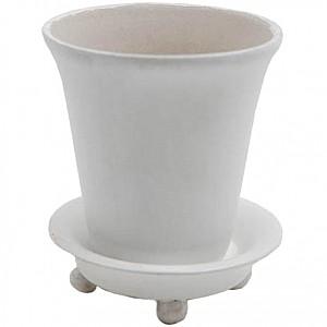 Flower Pot Round White Large