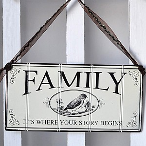 Plåtskylt Family