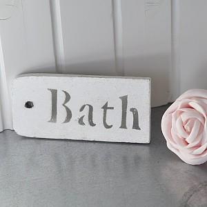Träskylt Bath