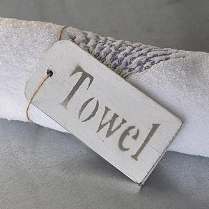 Wooden Sign Towel