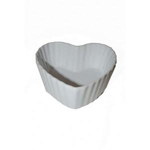 Baking Dish / Dessert Bowl Heart White - Large