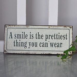 Plåtskylt A Smile