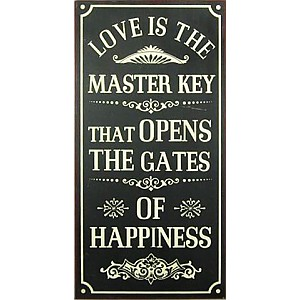Tin Sign Gates of happiness