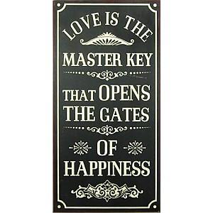 Plåtskylt Gates of happiness
