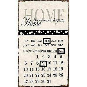 Enamel Sign Calendar
