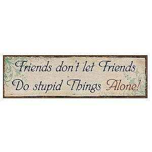 Tin Sign Friends