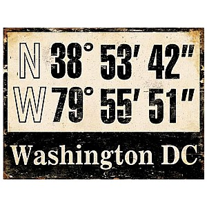 Tin Sign Washington DC