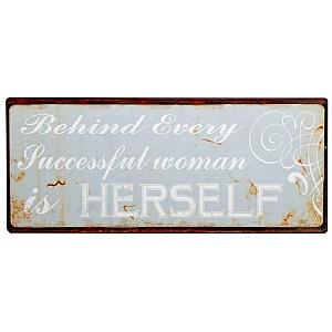 Tin Sign Woman