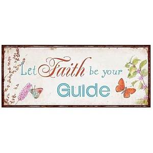 Plåtskylt Faith