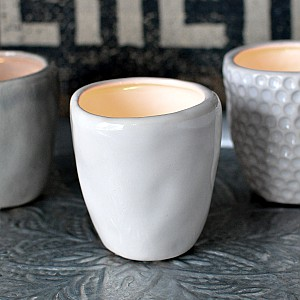 Candle Holder / Mini Vase CUP White - Small