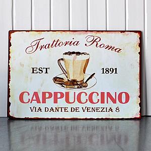 Plåtskylt Cappuchino
