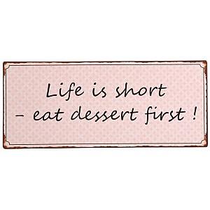 Plåtskylt Dessert