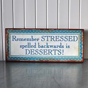 Plåtskylt Desserts