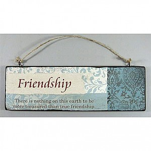 Wooden Sign Friendship