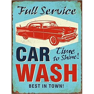 Tin Sign Car Wash