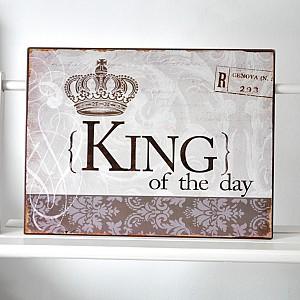 Plåtskylt King