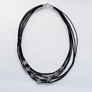 Necklace Stars with rhinestones