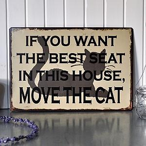 Plåtskylt Best seat