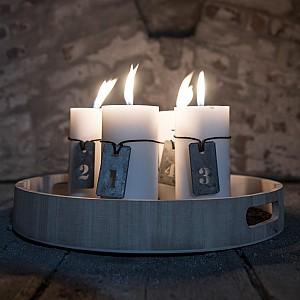 Zinkbrickor / Skyltar Advent