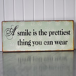 Tin Sign A Smile