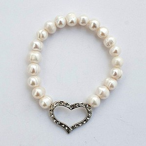 Armband Pärlor och hjärta
