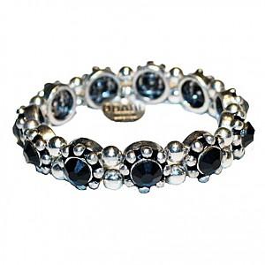Armband med svart strass